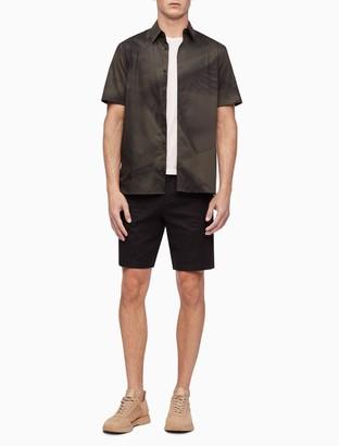 Geo Print Button-Down Short Sleeve Shirt