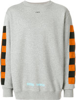 Off-White contrast panel sweatshirt - men - Cotton - S