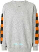 Off-White contrast panel sweatshirt