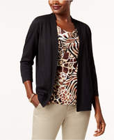 Alfred Dunner Jungle Love Layered-Look Cardigan