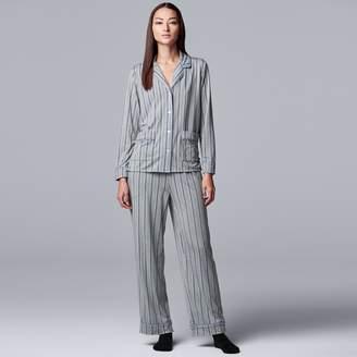 Vera Wang Petite Simply Vera 3-Piece Pajamas & Socks Set