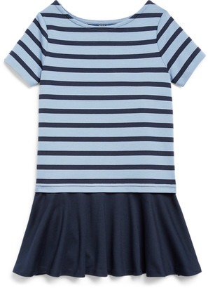 Ralph Lauren Striped Stretch Ponte Dress