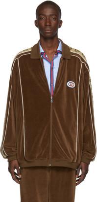 Gucci Brown Zipover Jacket