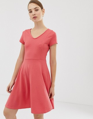 B.young V Neck Dress-Pink