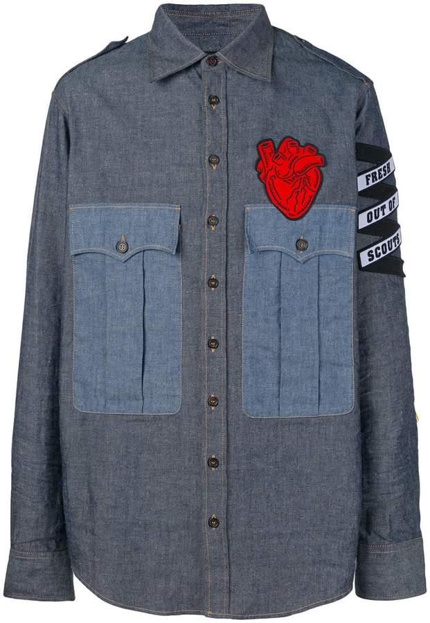 DSQUARED2 appliqué denim shirt