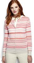 Classic Women's Supima Jacquard Cardigan Sweater-Vibrant Cobalt Colorblock