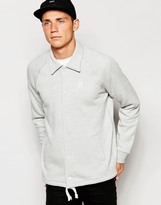 Huf Huf Jersey Coach Jacket With Classic H Logo - Grey