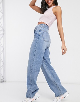 And other stories & Dear organic cotton 90s cut jeans in mid wash