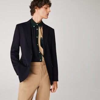 Lacoste Men's Stretch Buttoned Straight Fit Blazer