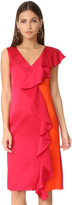 Diane von Furstenberg Sleeveless Side Ruffle Dress