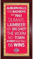 """Steiner Sports Detroit Pistons 32"""" x 16"""" Vintage Subway Sign"""