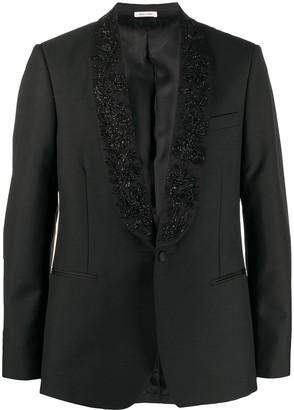 Alexander McQueen Embroidered Single-Breasted Blazer
