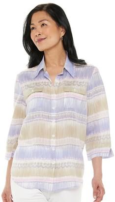 Alfred Dunner Women's Watercolor Stripe Shirt