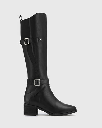 Wittner - Women's Black Boots - Ionna Leather With Elastic Long Boots - Size One Size, 37 at The Iconic
