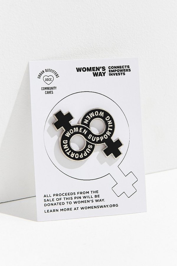 Urban Outfitters Community Cares X Women's Way Infinite Support Pin