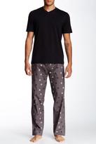 Majestic Short Sleeve V-Neck Tee & Pant Pajama Set