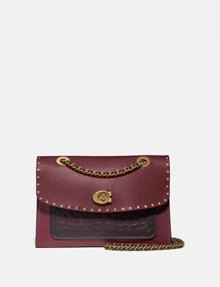 Coach Parker In Signature Leather With Rivets