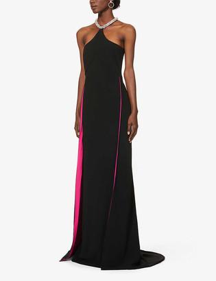 Stella McCartney Oscars gemstone-embellished halterneck crepe gown