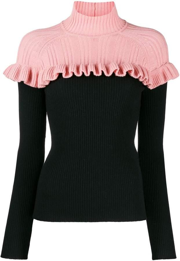 VIVETTA ruffle knit jumper