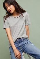 Anthropologie Enchanted Pearl-Collar T-Shirt, Grey