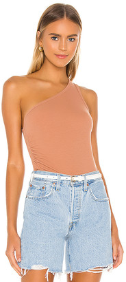 LnA Ariel Rib One Shoulder Top