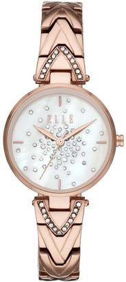 Elle Grand Palais Rose Gold-Tone Analogue Watch