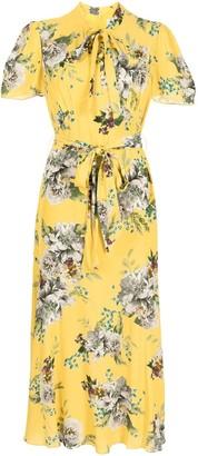 Erdem Elmer Carnation Bouquet-print dress