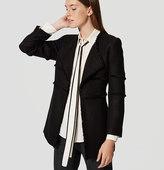 LOFT Draped Fringe Tweed Coat