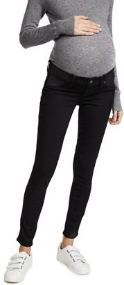 Paige Women's Maternity Verdugo Ultra Skinny with Elastic Insets in Black Shadow 24