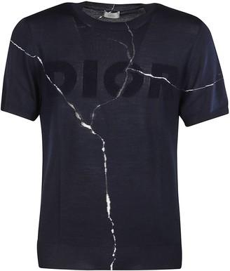 Christian Dior Logo Crack Print T-shirt