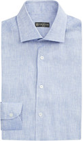 Corneliani Slim-fit linen shirt