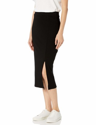 The Drop Veronique High-Waisted Slit Skirt