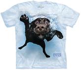 The Mountain Blue Underwater Dog Duchess Tee - Unisex