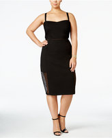 mblm by Tess Holliday Trendy Plus Size Lace-Inset Bodycon Dress