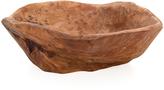 Torre & Tagus Carved Wood Bowl