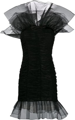 Alessandra Rich Tulle Design Dress
