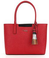 Calvin Klein Tasseled Color Block Saffiano Tote