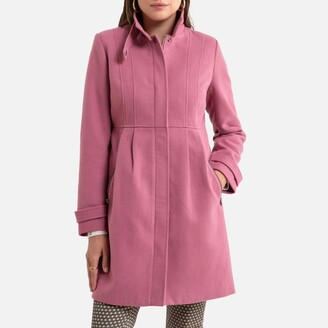 Anne Weyburn Mid-Length Coat with Zip Fastening