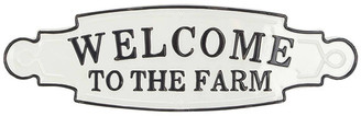 Brimfield & May Farmhouse Welcome To The Farm Iron Wall Sign
