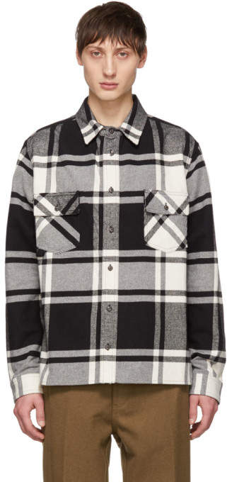 Off-White Black and White Checked Shirt