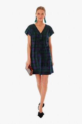 Vineyard Vines Blackwatch Velvet V-Neck Dress
