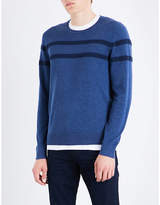 Michael Kors Chest-stripe Cotton-knitted Jumper