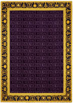 Versace Barocco & Robe Beach Towel - Purple