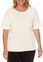 Alfred Dunner Short-Sleeve Sweater Shell