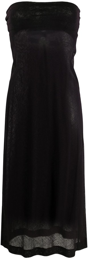 Dries Van Noten Pre-Owned 2000s Strapless Fitted Dress