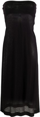 Dries Van Noten Pre Owned 2000s strapless fitted dress