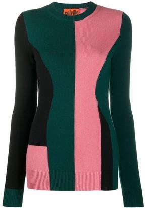 Colville Long Sleeve Block Colour Sweater
