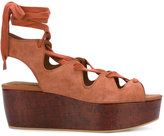 See by Chloe platform sandals - women - Leather/Suede/Cork/rubber - 40