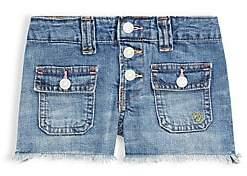 Ralph Lauren Little Girl's Patch Pocket Denim Shorts