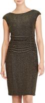 Lauren Ralph Lauren Terri Metallic Knit Cutout Dress, Black/Gold